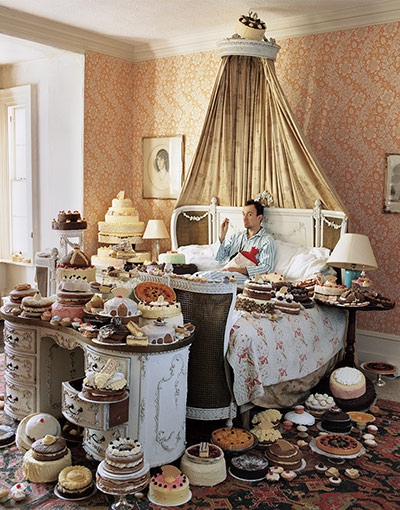 Tim Walker - self-portrait with eighty cakes